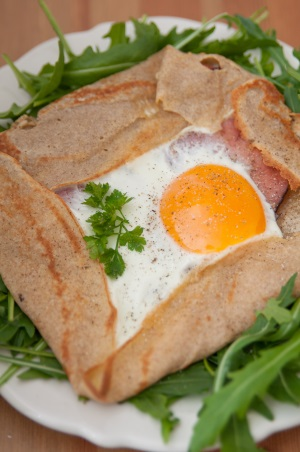 image of breakfast crepes